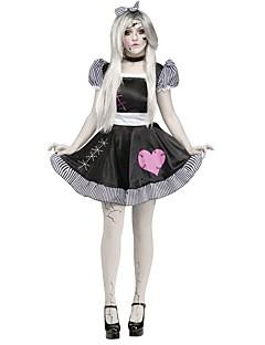 Skjelett/Kranium Zombie Cosplay Badedrakt/Kjoler Cosplay Kostumer Halloween Utstyr Kvinnelig Halloween Karneval De dødes dag