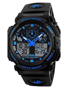 billige Digitalure-Herre Quartz Digital Digital Watch Armbåndsur Smartur Militærur Sportsur Kinesisk Kalender Kronograf Stor urskive Tre Tidszoner Silikone