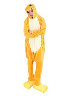billige Kigurumi-Kigurumi-pysjamas med tøfler Drage Onesie-pysjamas Kostume Flannelstoff Cosplay Til Voksne Pysjamas med dyremotiv Tegnefilm Halloween