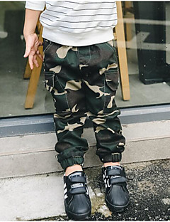 Boys' Camouflage Pants-Cotton Polyester Spring Fall