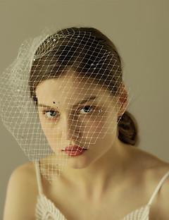 Závoje Jedna vrstva Svatební kloboučky Oříznutý okraj Tyl
