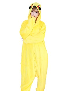 Kigurumi Pyjamas Pika Pika Kostume Gul Flannelstoff Cosplay Kostumer Kigurumi Trikot / Heldraktskostymer Cosplay Festival / høytid