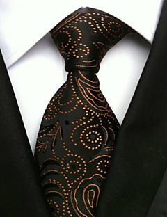 Men's Polyster Neck Tie,Neckwear Print All Seasons Black
