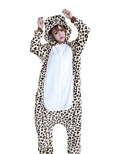 21d8e95ca3 Adults  Cosplay Costume Kigurumi Pajamas Bear Leopard Onesie Pajamas Flannel  Fabric Beige Cosplay For Men and Women Animal Sleepwear Cartoon Festival ...