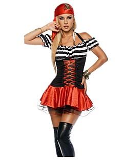 billige Halloweenkostymer-Pirat Kjoler Halloween Utstyr Maskerade Kostume Dame Voksne Halloween Karneval Festival / høytid Drakter Vintage