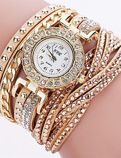 Women's Bracelet Watch Unique Creative Watch Casual Watch Simulated Diamond Watch Fashion Watch Chinese Quartz Imitation Diamond PU Band