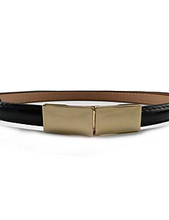 billige Trendy belter-Dame metallic / Dress Belt Bredt belte Ensfarget Legering / PU