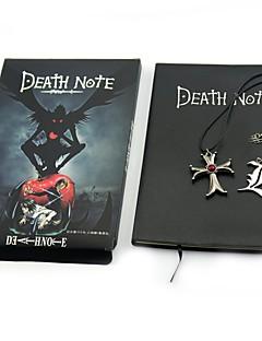 Monograma Inspirado por Death Note Yagami Raito Anime Acessórios para Cosplay Colar Mais Acessórios 100% Celulose Virgem Metalic