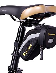 West biking Cyklistická taška Brašna na sedlo Reflexní pásek Odolné vůči dešti Voděodolný zip Lehký Taška na kolo Látka Lycra Taška na