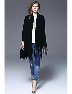 tanie Swetry damskie-Damskie Vintage Wzornictwo chińskie Halter Rozpinany Jendolity kolor