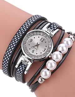 Women's Fashion Watch Bracelet Watch Chinese Quartz Calendar / date / day PU Band Charm Casual Pearls Elegant Black White Blue Pink Purple