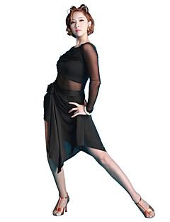 baratos Roupas de Dança Latina-Dança Latina Tutos e Saias Mulheres Apresentação Fibra de Leite Seda Sintética Caído Saias
