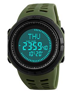 SKMEI Herre Sportsklokke Armbåndsur Digital Watch Japansk Digital Alarm Kalender Kronograf Vannavvisende LED Stor urskive Compass