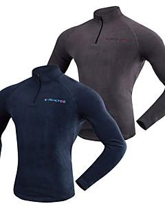 Realtoo Unisexo Jaqueta Fleece de Trilha Ao ar livre Inverno Respirabilidade Inverno Jaquetas em Velocino / Lã Pequeno Zíper 7 polegadas