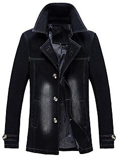 メンズ スポーツ お出かけ 秋 冬 デニムジャケット,ストリートファッション シャツカラー カラーブロック レギュラー その他 長袖