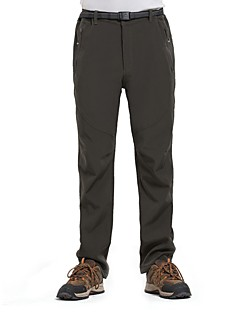 cheap Hiking Trousers & Shorts-Men's Hiking Pants Outdoor Windproof Rain-Proof Waterproof Zipper Breathability Winter Softshell Pants / Trousers Bottoms Hiking Climbing