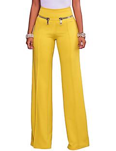 fc400fc88cc0 Γυναικεία Καθημερινό Πλατύ Πόδι Παντελόνι - Μονόχρωμο Λευκό   Εξόδου