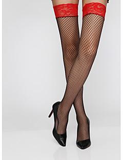 naisten sukat& sukkahousut seksikäs stretchy ohut lace patchwork sukat, nylon