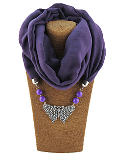 Women's Alloy Resin with Metal Clip Polester/Cotton Blend Infinity Scarf Solid All Seasons