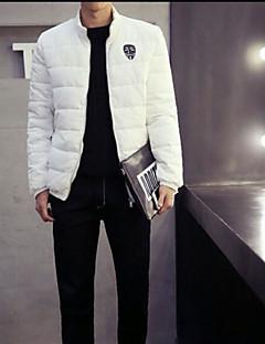 コート ダウン メンズ,お出かけ プリント その他 ポリプロピレン-シンプル 長袖