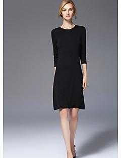 Χαμηλού Κόστους Sweater Dresses-Γυναικεία Χαριτωμένο Κομψό & Μοντέρνο Θήκη Φόρεμα - Μονόχρωμο, Μοντέρνο Στυλ Ως το Γόνατο