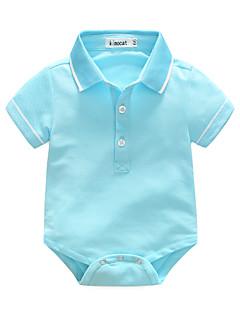 Baby Einzelteil einfarbig 100% Baumwolle Sommer Kurzarm