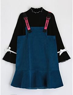 Χαμηλού Κόστους Πώληση-Κοριτσίστικα Σετ Ρούχων Βαμβάκι Μονόχρωμο Φθινόπωρο Μακρυμάνικο Μαύρο