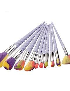 billiga Sminkborstar-10pcs Makeupborstar Professionell Borstsatser / Rougeborste / Ögonskuggsborste Söt / Fullständig Täckning Aluminium / Plast