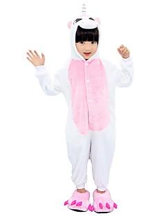 Kigurumi Pyjamas Enhjørning Kostume Rosa Blå Rose Flannelstoff Cosplay Kostumer Sko Kigurumi Trikot / Heldraktskostymer Cosplay Festival