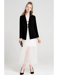 Damen Solide Einfach Lässig/Alltäglich Blazer,Hemdkragen Herbst Lange Ärmel Standard Polyester