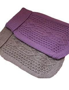 abordables -Chien Pull Vêtements pour Chien Décontracté / Quotidien Géométrique Gris Violet