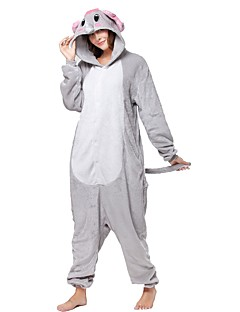 Kigurumi Pijamale Elefant Costume Gri Kigurumi Leotard / Onesie Cosplay Festival / Sărbătoare Sleepwear Pentru Animale Halloween Animal