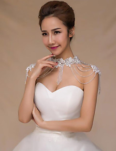 cheap Wedding Wraps-Polyester Wedding Party / Evening Women's Wrap With Crystal Shrugs
