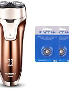 flyco fs867 elektrisk barbermaskin razor to ekstra hoder 100240v vaskbare