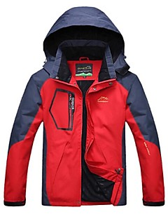Men's Hiking Jacket Outdoor Winter Windproof Rain-Proof Breathability Jacket Top Full Length Visible Zipper Camping / Hiking Cycling