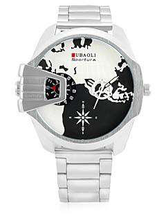 Χαμηλού Κόστους Brand Watches-JUBAOLI Ανδρικά Χαλαζίας Ρολόι Καρπού Αθλητικό Ρολόι Κινέζικα Ημερολόγιο Μεγάλο καντράν Διπλές Ζώνες Ώρας Ανοξείδωτο Ατσάλι Μπάντα