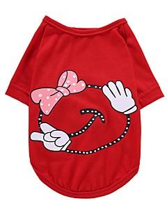 billiga Hundkläder-Hund T-shirt Väst Hundkläder Prinsessa Gul Röd Rosa Cotton Kostym För husdjur Herr Dam Fest Ledigt/vardag Födelsedag Mode Bröllop