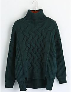 billige Lagersalg-Dame Fritid Pullover - Ensfarget, Kunstnerisk Stil Klassisk Stil