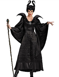 Witch Fairytale Cosplay Maleficent Cosplay Costumes Party Costume Women's Halloween Carnival Festival / Holiday Halloween Costumes Black