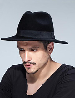 cheap Men's Accessories-Unisex Traditional / Vintage Fedora Hat - Solid Colored Pure Color