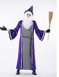 billige Halloweenkostymer-Trollmann Cosplay Kostumer Halloween Festival / høytid Halloween-kostymer Lilla Mote
