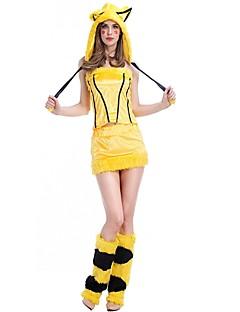 Eventyr Cosplay Kostumer Maskerade Kvinnelig Halloween Jul Karneval Nytt År Festival/høytid Halloween-kostymer Gul Stripe Helfarve