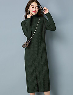 364537eb66 Women s Daily Sheath Dress - Solid Colored Turtleneck Fall Cotton Black Red  Light Blue L XL