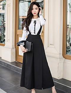 tanie SS 18 Trends-Damskie Luźna Spodnie szerokie nogawki Kombinezon Spodnie - Rozcięcie, Jendolity kolor