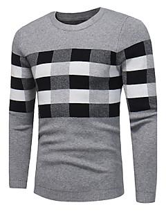 tanie Męskie swetry i swetry rozpinane-Męskie Rozmiar plus Okrągły dekolt Pulower Pled