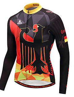 Miloto Cycling Jersey Men's Long Sleeves Bike Jersey Stretchy Autumn/Fall Winter Cycling Black/Red