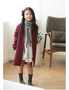 女の子 ソリッド コットン ジャケット&コート 冬 長袖 ドレスウェア ブラック ワイン