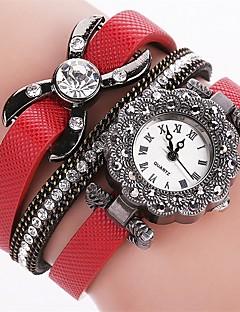 billige Armbåndsure-Dame Armbåndsur Simuleret Diamant Ur Quartz Imiteret Diamant PU Bånd Analog Vedhæng Afslappet Mode Sort / Hvid / Blåt - Rød Blå Lys pink