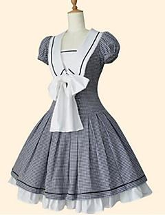 cheap Lolita Dresses-Sailor Lolita Dress Princess Women's Girls' Dress Cosplay Black Short Sleeves Knee Length