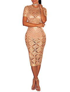 cheap Women's Dresses-Women's Bodycon Dress - Solid Colored, Cut Out High Rise